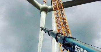 Саренс Бел выполнил монтаж ВЭУ Vensys V112 (высота 100м, 2,5 МВТ) и V136 (высота 100м , 3,5 МВТ)