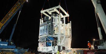 Погрузка модуля на Нежинском горно-обогатительном комбинате
